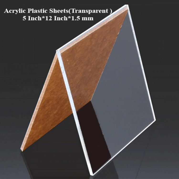 Acrylic Plastic Sheets(Transparent ) 5 Inch*12 Inch*1.5 mm
