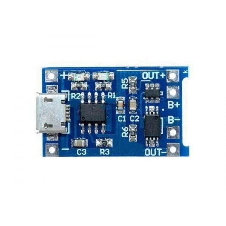 TP4056 Lithium Battery Charger Module  With Protection