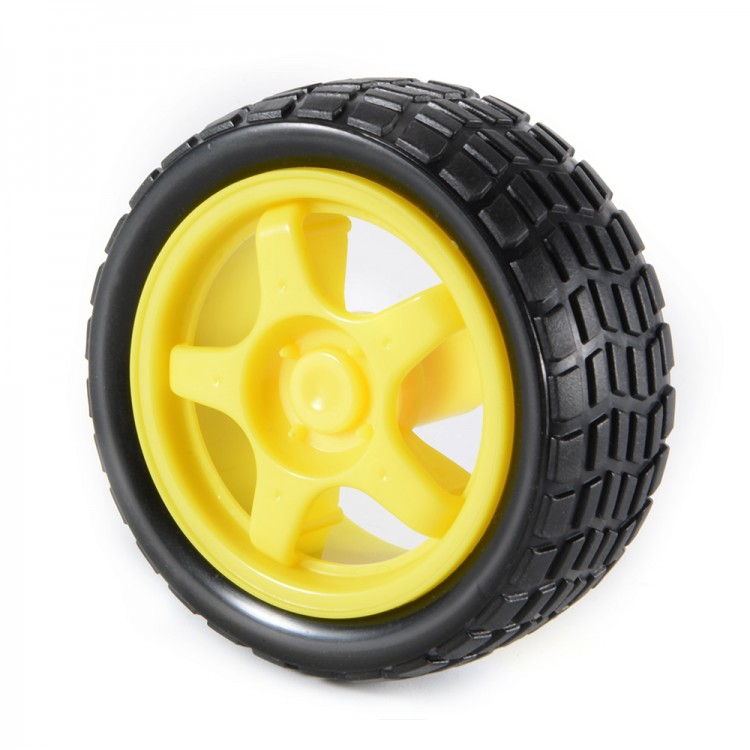 Robot Wheel for BO Motors (65mm,Yellow)
