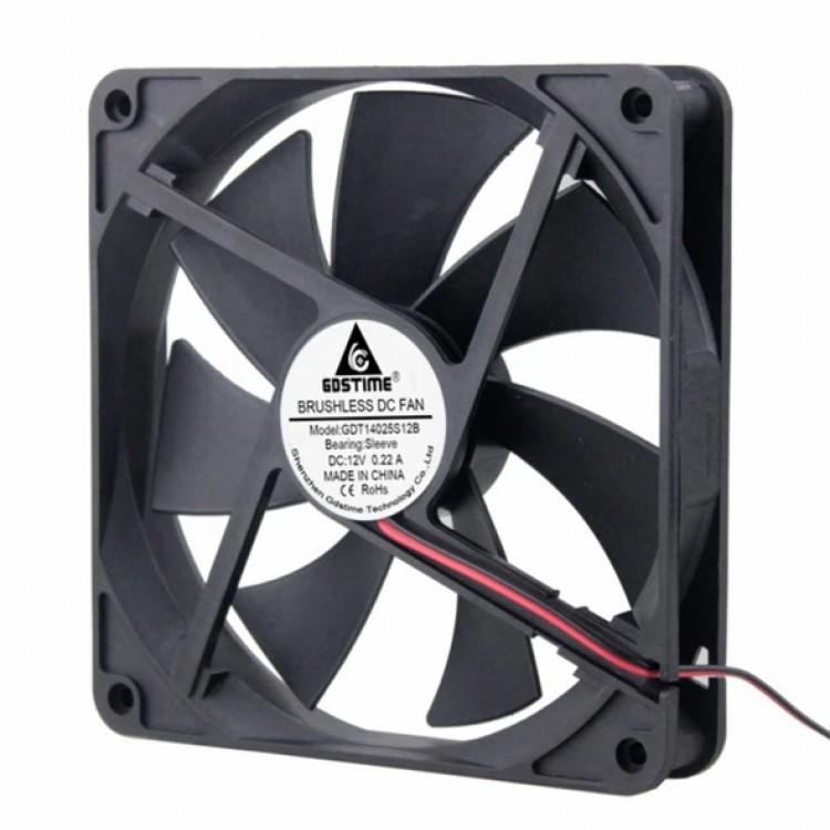 DC 12V 2Pin Cooling Fan 140mmx140mmx25mm