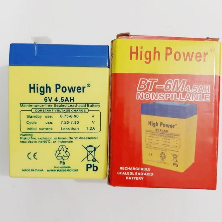 BT-6M 4.5AH 6Volt Lead Acide Battery