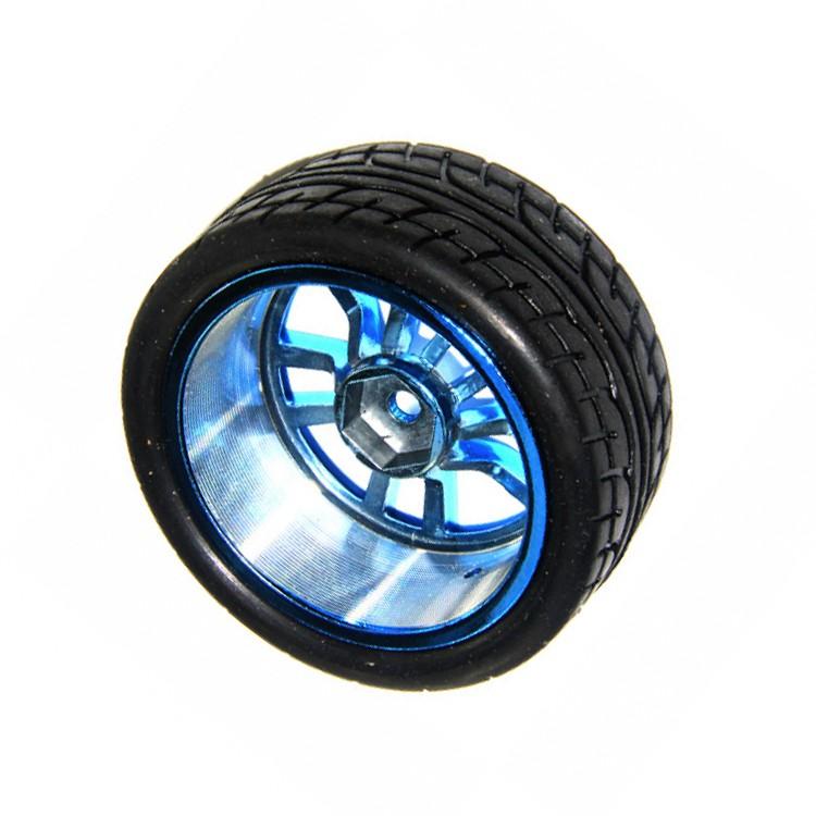 65*27mm Plastic Wheel Tire Blue Color