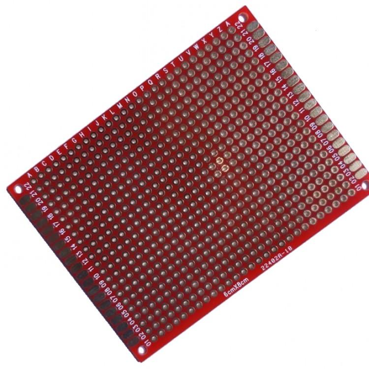 Dot Vero Board 6cm*8cm Red_Double  Side Copper.
