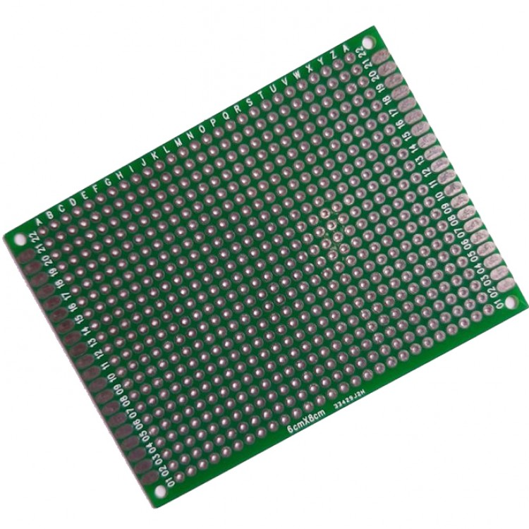 Dot Vero Board 6cm*8cm Green_Double  Side Copper.