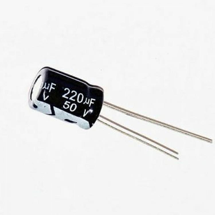 220uf/50V Electrolytic Capacitor