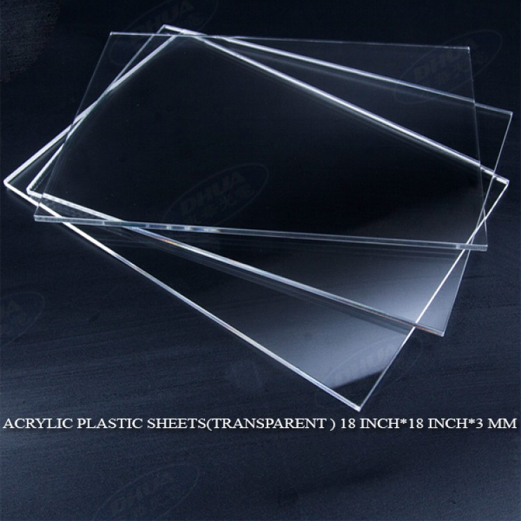 Acrylic Plastic Sheets(Transparent ) 18 Inch*18 Inch*3 mm