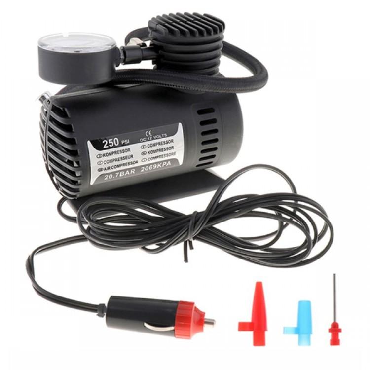Mini Air Compressor_12 Volt 250 PSI_Plastic Body