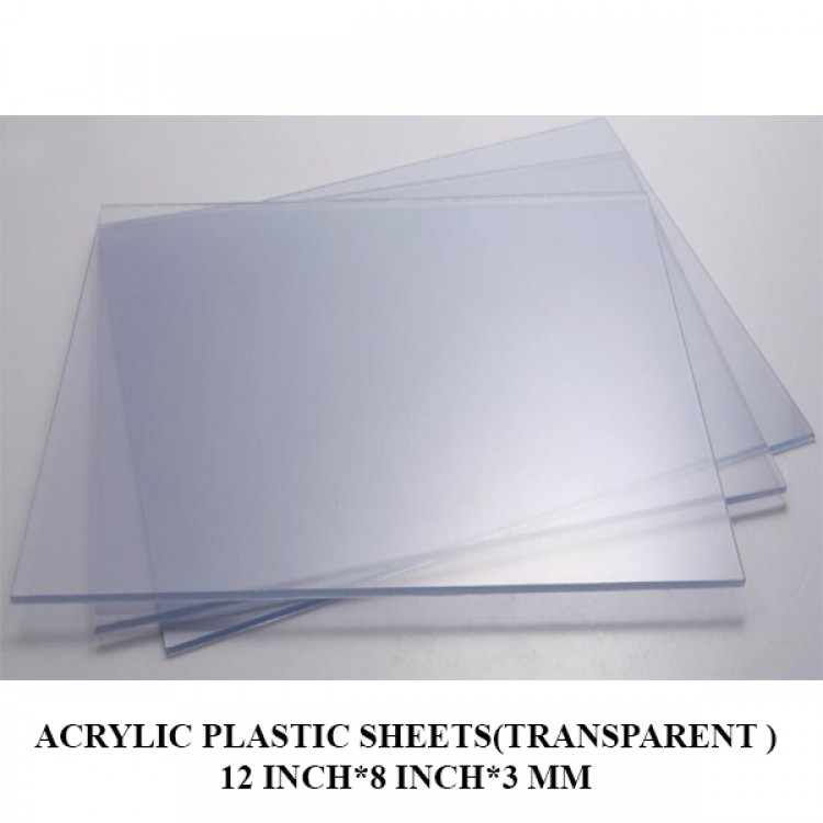 Acrylic Plastic Sheets(Transparent )12 Inch*8 Inch*3 mm