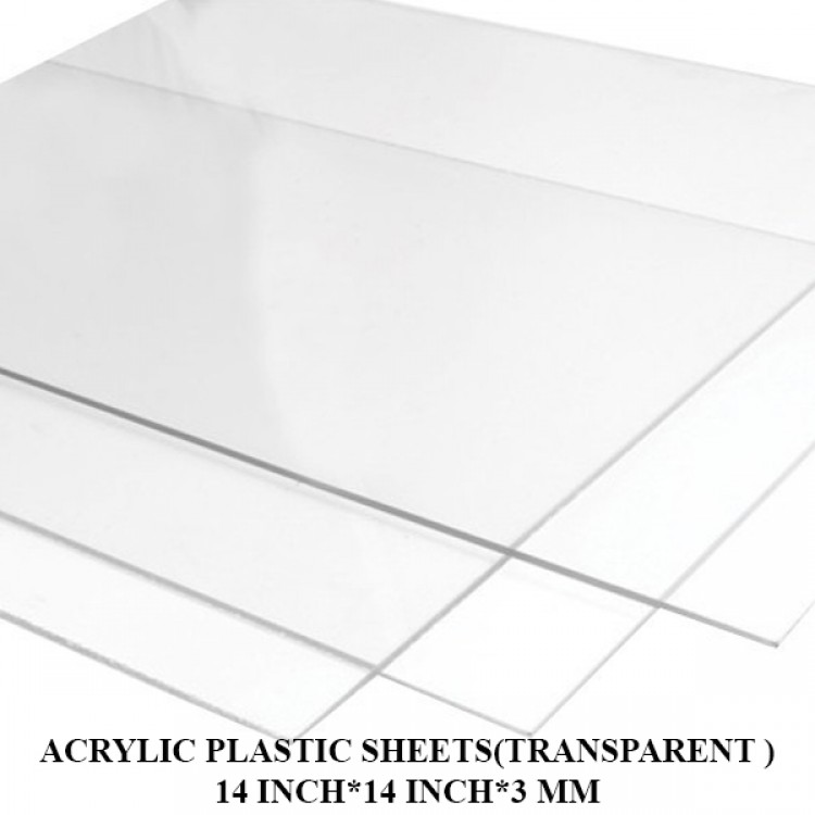 Acrylic Plastic Sheets(Transparent )14 Inch*14 Inch*3 mm