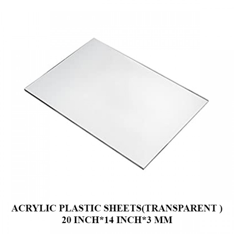 Acrylic Plastic Sheets(Transparent )20 Inch*14 Inch*3 mm