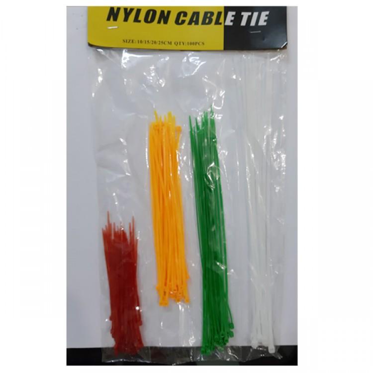 Cable Tie_4 Color_4 Size(10,15,20,25CM)_100PCS