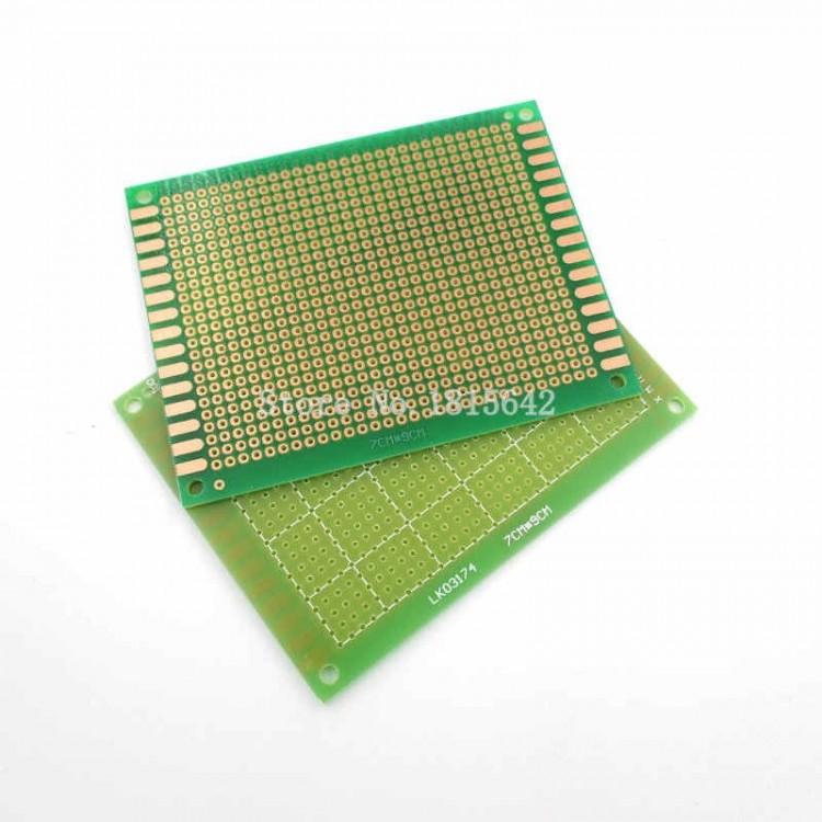 Dot Vero Board 7cm*9cm_One Side Copper_Green.