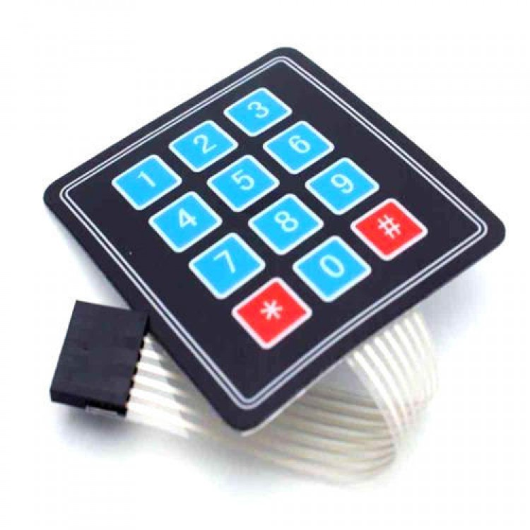 3X4 Matrix Flexible Keypad