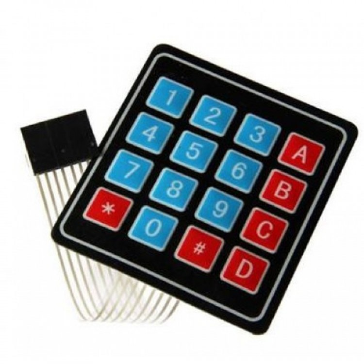 4X4 Matrix Flexible Keypad