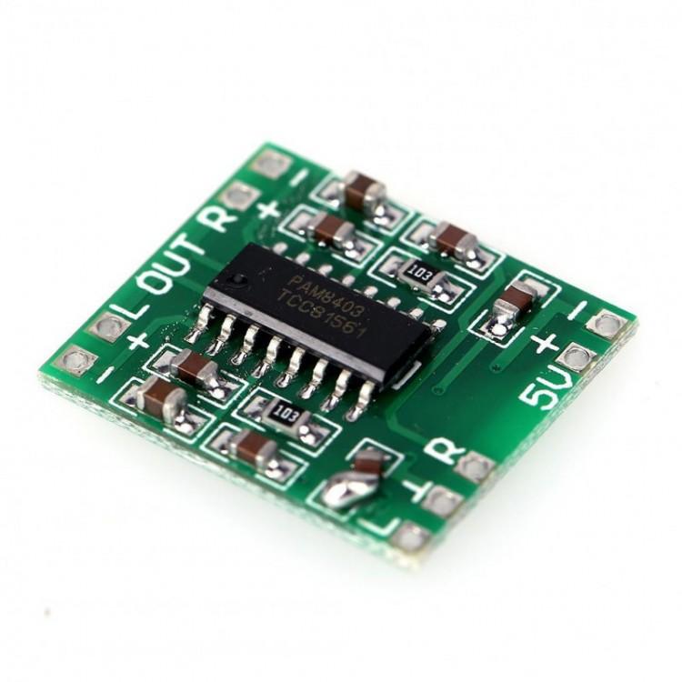 PAM8403 5V 2-Channel Stereo Audio Amplifier Module