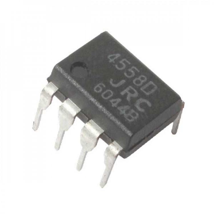 4558 Op-Amp Dual high gain_8-Pin DIP