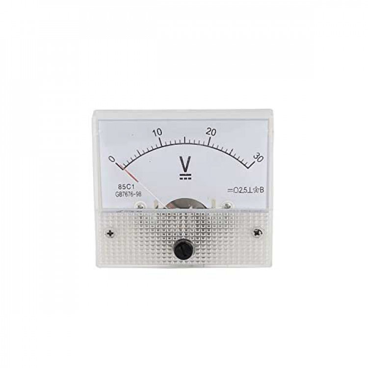 Analog Mini DC Volt Meter 0-30V