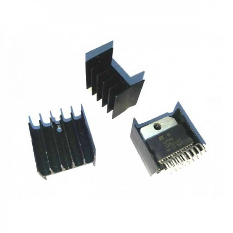 L298N Dual Motor Driver IC With Heat Sink