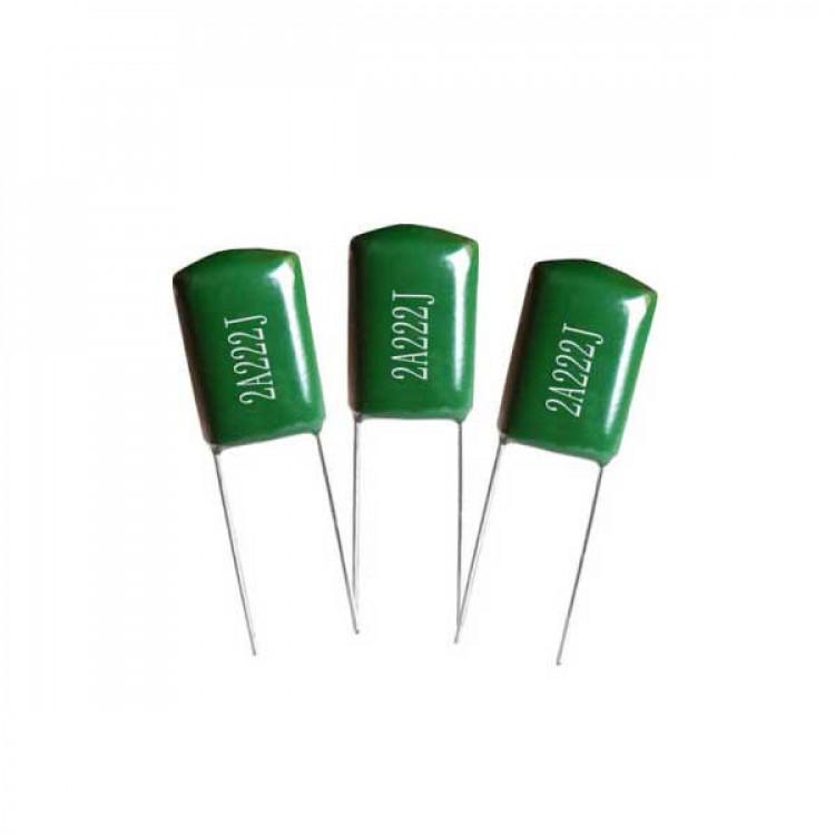 222j 100v inductive polyester film Mylar capacitor