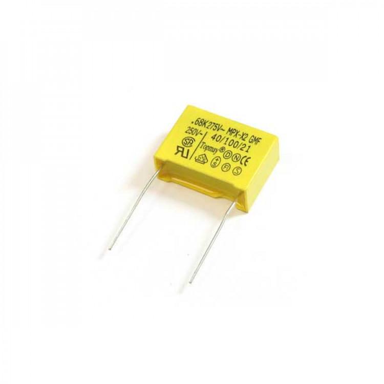 0.1UF 275V Metallized Polypropylene Film Capacitor_Yellow
