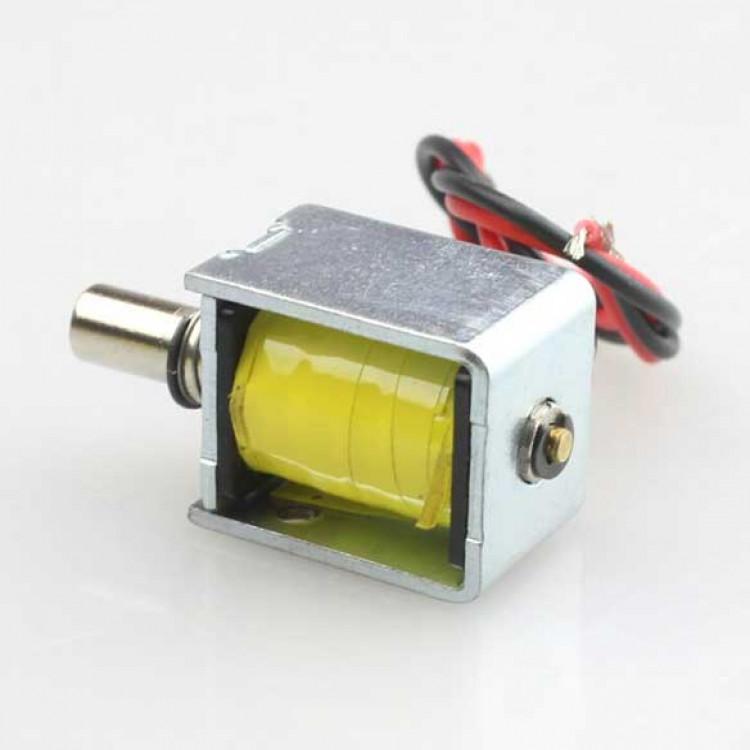 Mini electric lock push-pull cylindrical solenoid lock_6V-12v DC
