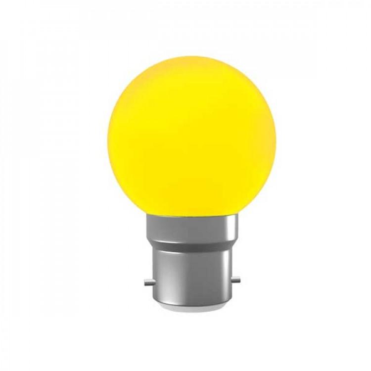 Color Dim Light Yellow 0.5 Watt Pin Type Round