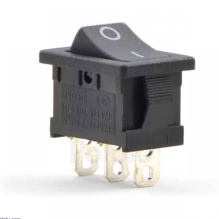 SPDT on/off power switch_3PIN_Black