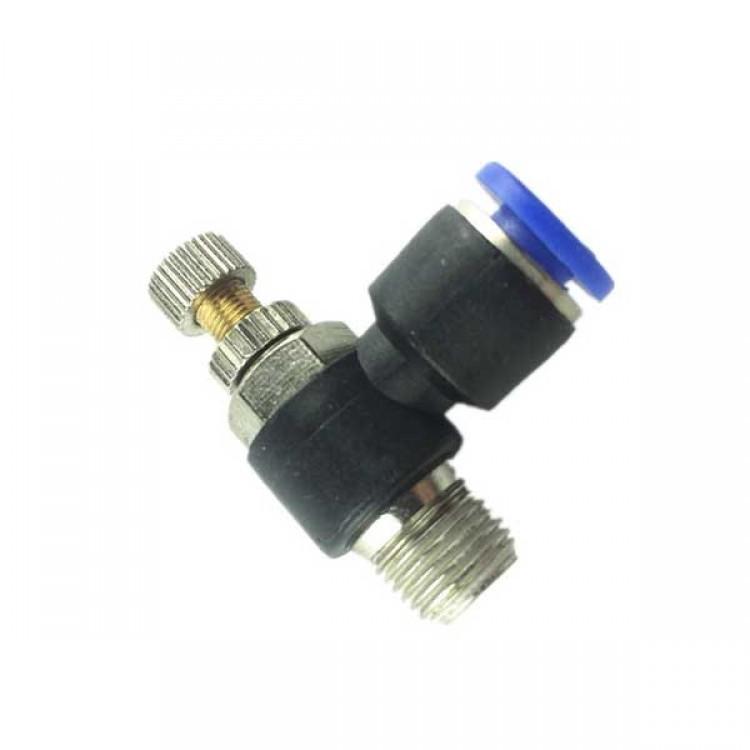 "Air Flow Speed Control Valve 1/8"" PT Thread 6mm Pneumatic Throttle"