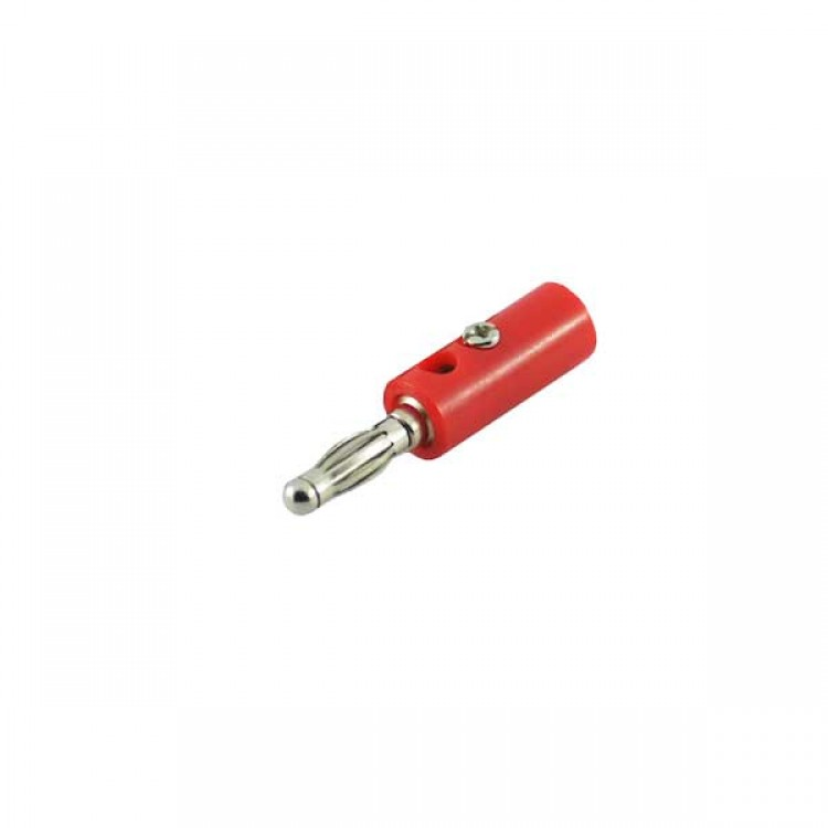 Banana Male Jack Connector_Red