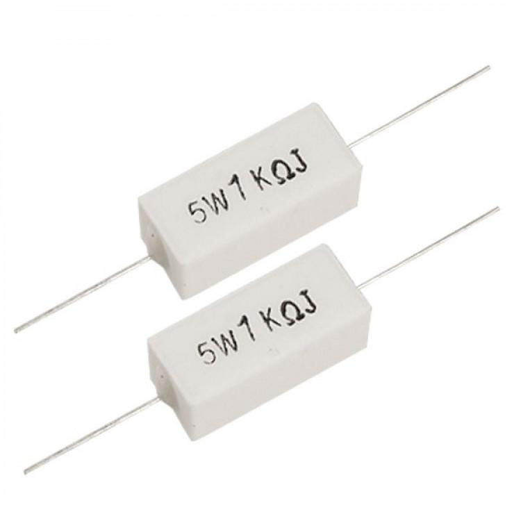 1K Ohm 5W Watts Ceramic Cement Power Resistor