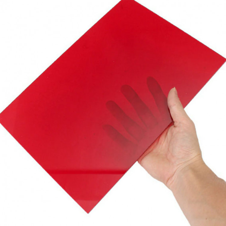 Acrylic 3mm Plastic  Sheet_Red Color_1sq.in. (1inch*1inch)