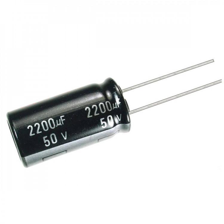 2200uF/50V Electrolytic Capacitor